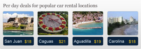 Per day deals for popular car rental locations